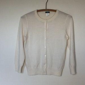 J. CREW Pale Blush Merino Wool Cardigan Sweater S